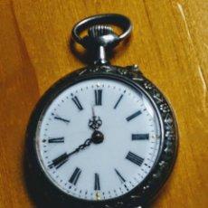 Relojes de bolsillo: RELOJ BOLSILLO DE PLATA SUIZO.. Lote 191598616