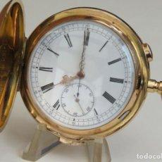 Relojes de bolsillo: INVICTA REPETICION A MINUTOS Y CRONOGRAFO TIPO CAZADOR EN ORO DE 18K. Lote 191652777