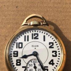 Relojes de bolsillo: ELGIN FERROVIARIO DE 1945 BW RAYMOND 590. FUNCIONA.. Lote 191982435