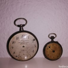Relojes de bolsillo: RELOJES DE BOLSILLO DE PLATA. Lote 192041626