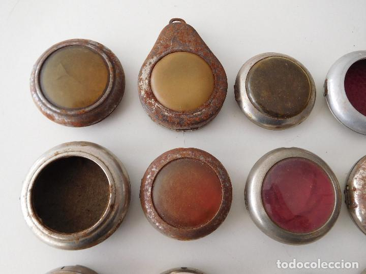 Relojes de bolsillo: Lote de 15 chichoneras antiguas para reloj de bolsillo - Foto 3 - 192058802