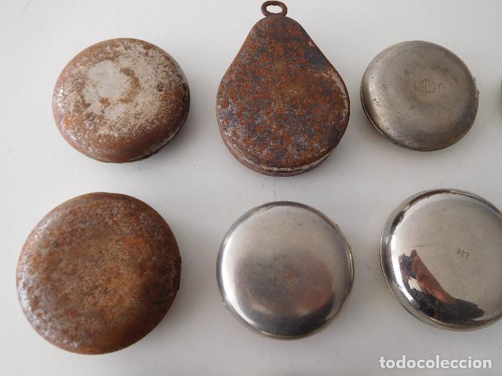 Relojes de bolsillo: Lote de 15 chichoneras antiguas para reloj de bolsillo - Foto 8 - 192058802