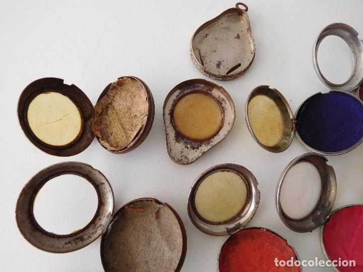 Relojes de bolsillo: Lote de 15 chichoneras antiguas para reloj de bolsillo - Foto 13 - 192058802