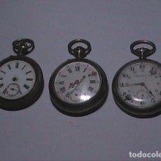 Relojes de bolsillo: LOTE DE TRES RELOJES DE BOLSILLO 1900-1920.NO FUNCIONAN. PARA REPARACIÓN O PIEZAS.. Lote 192094962