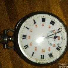 Relojes de bolsillo: RELOJ BOLSILLO DE PLATA COLINDRES 10 RUBIS. Lote 192181067