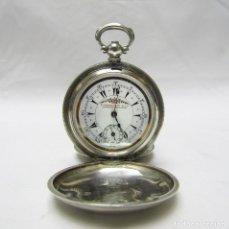 Relojes de bolsillo: BILLODES. RELOJ SUIZO DE BOLSILLO, SABONETA. PLATA DE LEY. SIGLO XIX.. Lote 192313096
