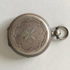 Relojes de bolsillo: ANTIGUO RELOJ DE BOLSILLO, PLATA. Lote 192642937