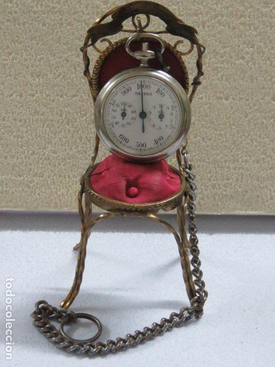 Relojes de bolsillo: RARO RELOJ DE BOLSILLO PODOMETRO CON LEONTINA FINALES DEL XIX - Foto 2 - 192784611