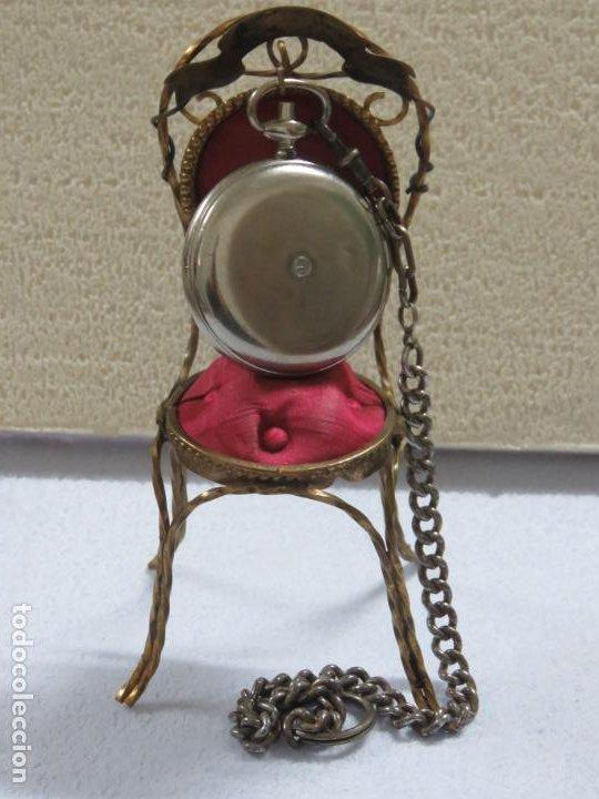 Relojes de bolsillo: RARO RELOJ DE BOLSILLO PODOMETRO CON LEONTINA FINALES DEL XIX - Foto 5 - 192784611