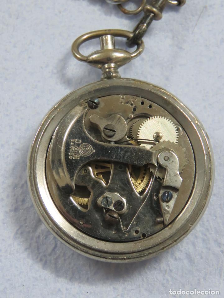 Relojes de bolsillo: RARO RELOJ DE BOLSILLO PODOMETRO CON LEONTINA FINALES DEL XIX - Foto 6 - 192784611
