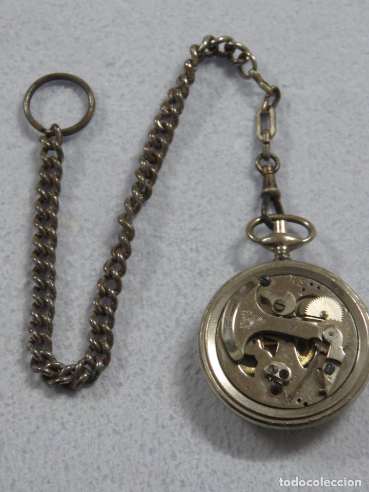 Relojes de bolsillo: RARO RELOJ DE BOLSILLO PODOMETRO CON LEONTINA FINALES DEL XIX - Foto 7 - 192784611