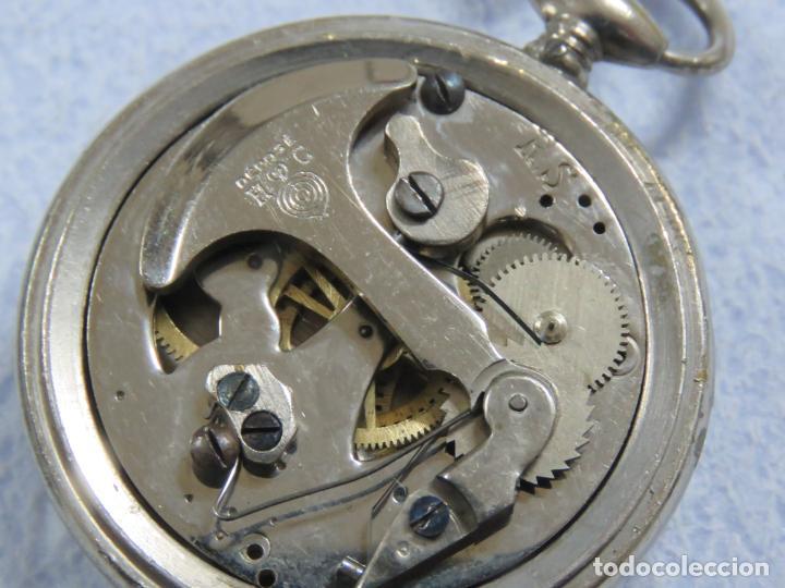 Relojes de bolsillo: RARO RELOJ DE BOLSILLO PODOMETRO CON LEONTINA FINALES DEL XIX - Foto 8 - 192784611