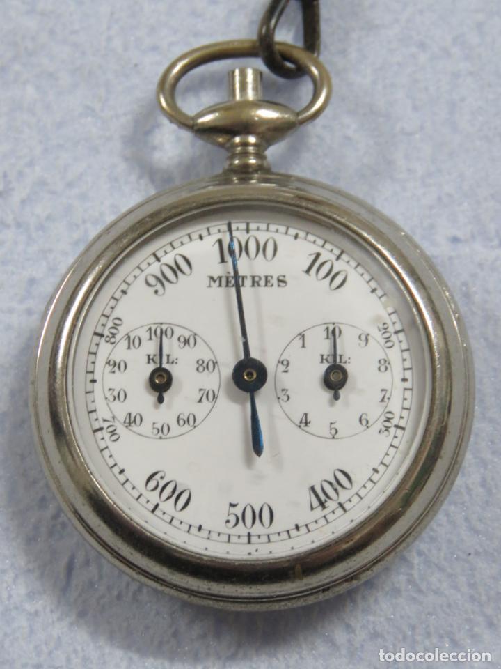 Relojes de bolsillo: RARO RELOJ DE BOLSILLO PODOMETRO CON LEONTINA FINALES DEL XIX - Foto 10 - 192784611