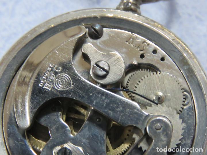 Relojes de bolsillo: RARO RELOJ DE BOLSILLO PODOMETRO CON LEONTINA FINALES DEL XIX - Foto 11 - 192784611