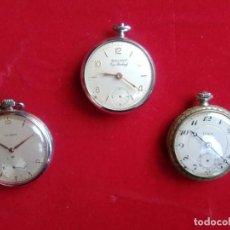 Relojes de bolsillo: AB.- 891.- LOTE DE -3- RELOJES DE BOLSILLO, SIN FUNCIONAR.- PARA RECAMBIOS O REPARACION , VER FOTOS . Lote 193056742