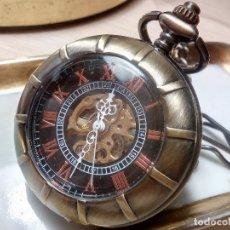 Relojes de bolsillo: RELOJ BOLSILLO CUATRO TAPAS COBRE.. Lote 193232446