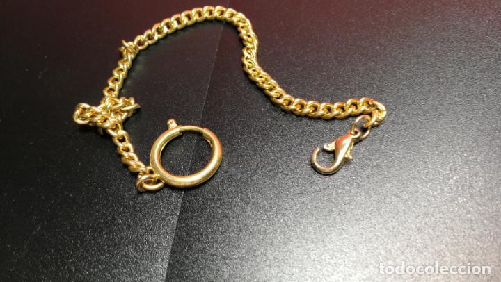 Relojes de bolsillo: LEONTINA CADENA DORADA PARA RELOJ DE BOLSILLO, SOBRE 24 cms de largo - Foto 11 - 194011301