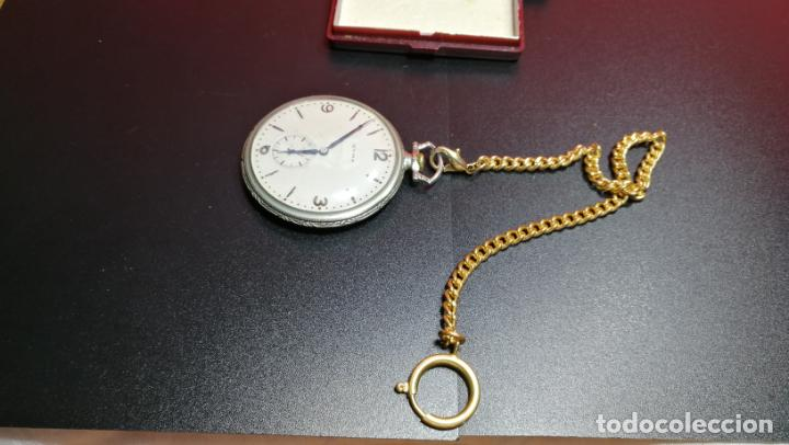 Relojes de bolsillo: LEONTINA CADENA DORADA PARA RELOJ DE BOLSILLO, SOBRE 24 cms de largo - Foto 16 - 194011301