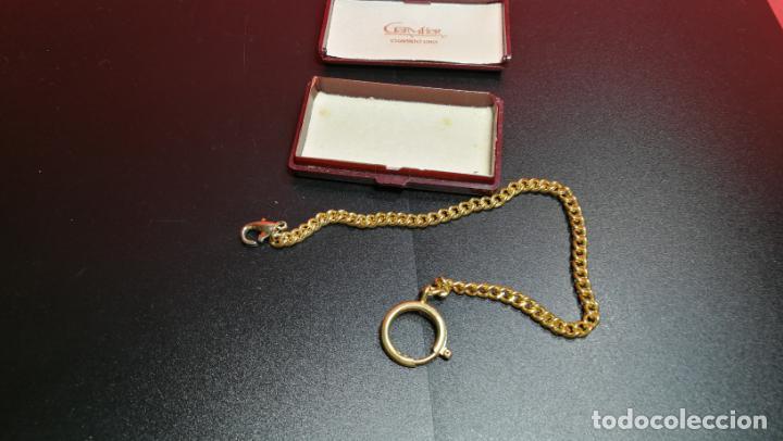 Relojes de bolsillo: LEONTINA CADENA DORADA PARA RELOJ DE BOLSILLO, SOBRE 24 cms de largo - Foto 23 - 194011301