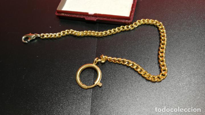 Relojes de bolsillo: LEONTINA CADENA DORADA PARA RELOJ DE BOLSILLO, SOBRE 24 cms de largo - Foto 25 - 194011301