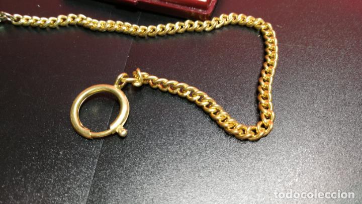 Relojes de bolsillo: LEONTINA CADENA DORADA PARA RELOJ DE BOLSILLO, SOBRE 24 cms de largo - Foto 26 - 194011301