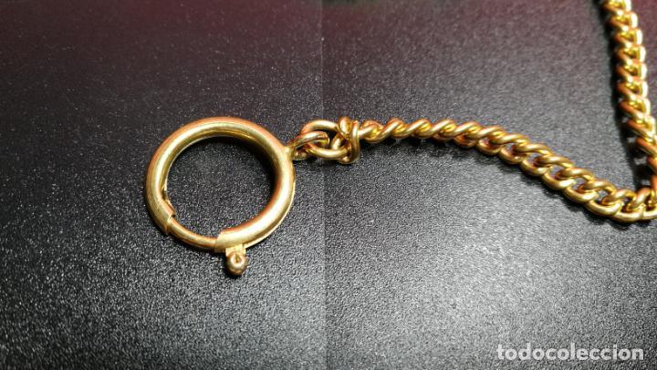 Relojes de bolsillo: LEONTINA CADENA DORADA PARA RELOJ DE BOLSILLO, SOBRE 24 cms de largo - Foto 27 - 194011301