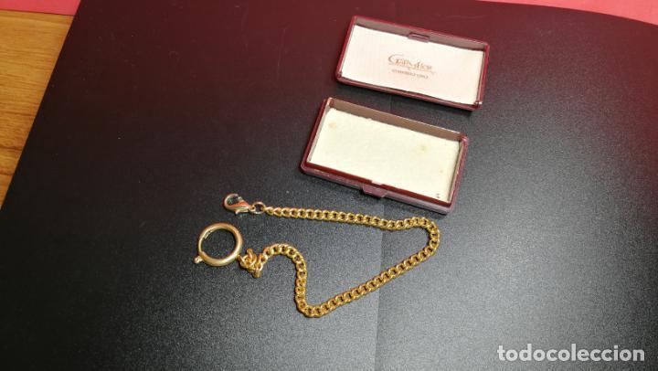 Relojes de bolsillo: LEONTINA CADENA DORADA PARA RELOJ DE BOLSILLO, SOBRE 24 cms de largo - Foto 33 - 194011301