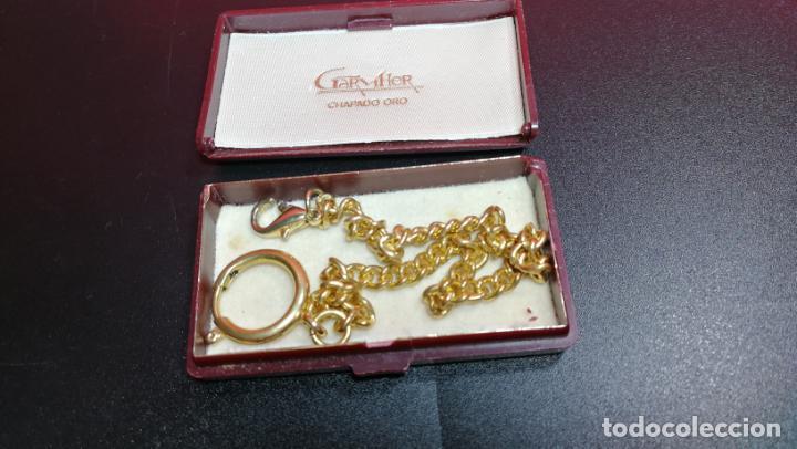 Relojes de bolsillo: LEONTINA CADENA DORADA PARA RELOJ DE BOLSILLO, SOBRE 24 cms de largo - Foto 42 - 194011301