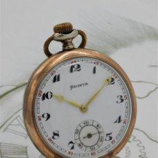 Relojes de bolsillo: HELVETIA-RELOJ DE BOLSILLO DE PLATA-CIRCA 1900-1910-FUNCIONANDO. Lote 194074978