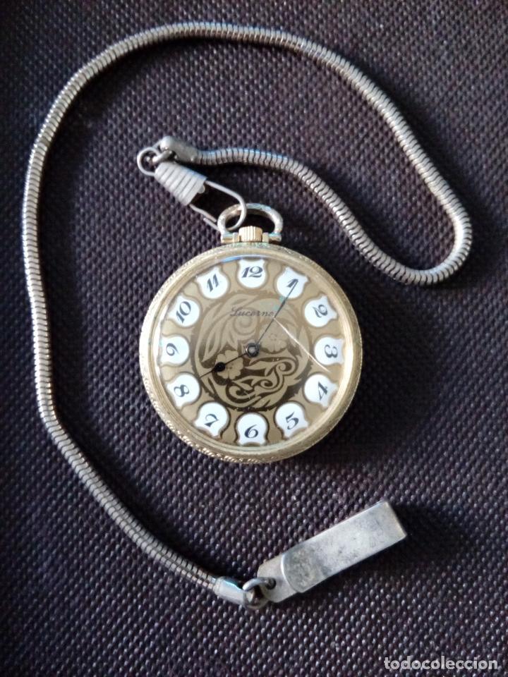 RELOJ DE BOLSILLO LUCERNE MECANICO EN FUNCIONAMIENTO (Relojes - Bolsillo Carga Manual)