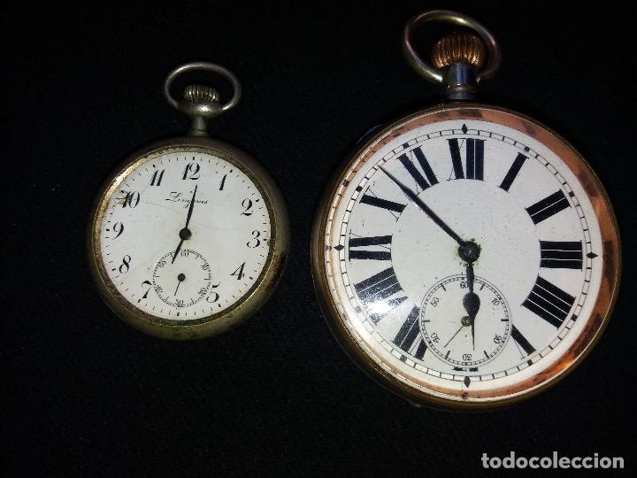 Relojes de bolsillo: RELOJ DE BOLSILLO DE GRAN TAMAÑO, FUNCIONA, LA MAQUINARIA ESTÁ PROTEGIDA POR UNA ESFERA TRANSPARENTE - Foto 3 - 194218040