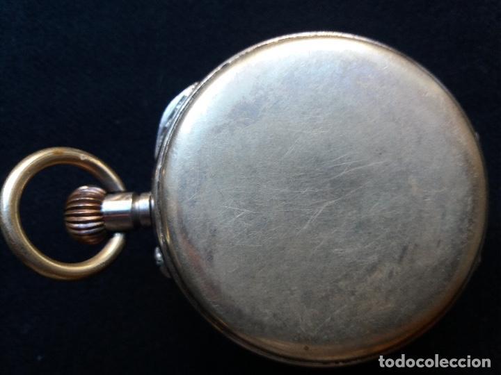 Relojes de bolsillo: RELOJ DE BOLSILLO DE GRAN TAMAÑO, FUNCIONA, LA MAQUINARIA ESTÁ PROTEGIDA POR UNA ESFERA TRANSPARENTE - Foto 7 - 194218040