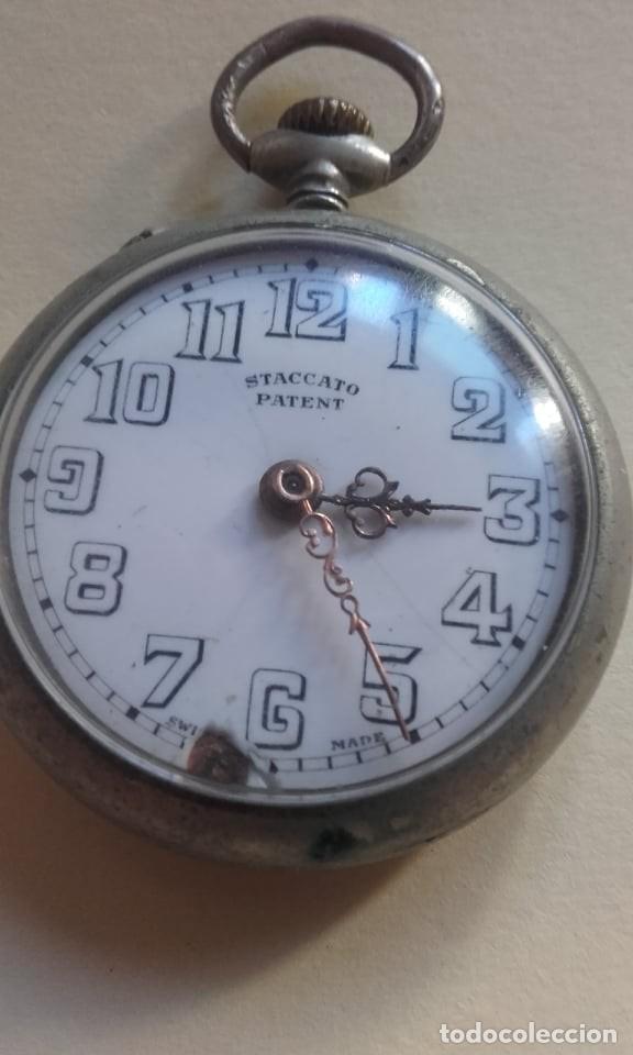 RELOJ MARCA SCATTACO PATENT MADE SUIZA (Relojes - Bolsillo Carga Manual)