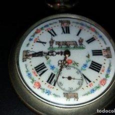 Relojes de bolsillo: RELOJ DE BOLSILLO GANADERO GRABADO EN LA PARTE POSTERIOR,FUNCIONA PERFECTAMENTE. Lote 194223246