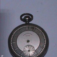 Relojes de bolsillo: ANTIGUO RELOJ DE BOLSILLO TITAN CRONÓMETRO. CAJA DE PLATA Y FUNCIONANDO.. Lote 194225445