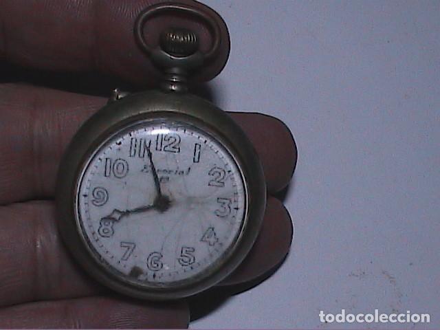 ANTIGUO RELOJ DE BOLSILLO MARCA ESCORIAL 19. NO FUNCIONA. (Relojes - Bolsillo Carga Manual)