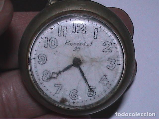 Relojes de bolsillo: ANTIGUO RELOJ DE BOLSILLO MARCA ESCORIAL 19. NO FUNCIONA. - Foto 2 - 194226371