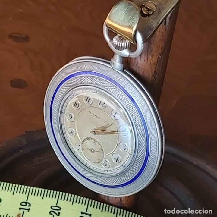 Relojes de bolsillo: TAVANNES WATCH CO 1891 RELOJ EXTRAPLANO PLATA - FUNCIONA PERFECTAMENTE - Foto 8 - 194248266