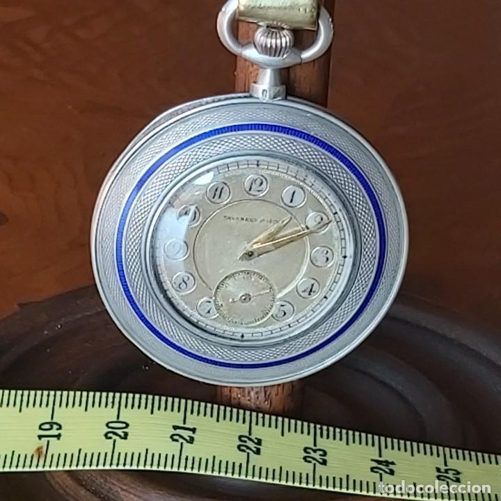 Relojes de bolsillo: TAVANNES WATCH CO 1891 RELOJ EXTRAPLANO PLATA - FUNCIONA PERFECTAMENTE - Foto 9 - 194248266