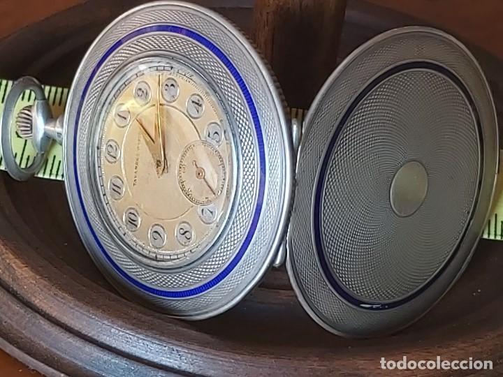 Relojes de bolsillo: TAVANNES WATCH CO 1891 RELOJ EXTRAPLANO PLATA - FUNCIONA PERFECTAMENTE - Foto 16 - 194248266