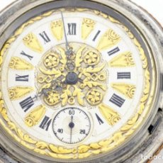 Relojes de bolsillo: RELOJ DE BOLSILLO PARA CABALLERO, SABONETA Y REMONTOIR. FINALES XIX.. Lote 194263101