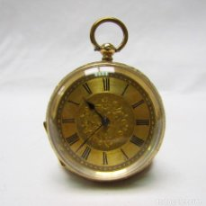 Relojes de bolsillo: RELOJ SUIZO DE COLGAR, LEPINE. SUIZA, CA. 1900. ORO 18K.. Lote 194263271