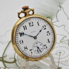 Relojes de bolsillo: ELGIN-DICTATOR-PRECIOSO RELOJ DE BOLSILLO-CIRCA 1923-FUNCIONANDO. Lote 194324026