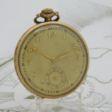 Relojes de bolsillo: MUY BONITO RELOJ DE BOLSILLO-ESFERA CON 24 HORAS-2 TAPAS-CIRCA 1910-1930-FUNCIONANDO. Lote 194337505
