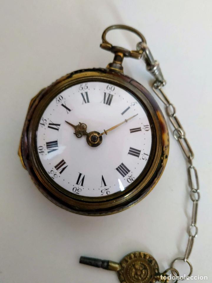 RELOJ CATALINO INGLÉS SIGLO XVIII (Relojes - Bolsillo Carga Manual)