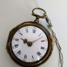 Relojes de bolsillo: RELOJ CATALINO INGLÉS SIGLO XVIII. Lote 194338606