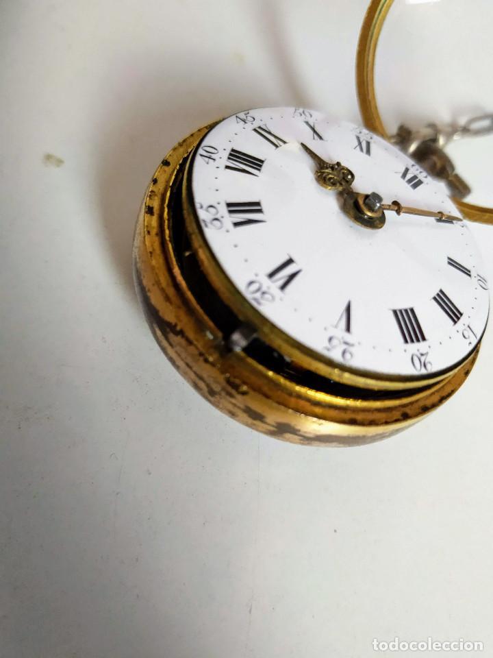 Relojes de bolsillo: Reloj catalino Inglés siglo XVIII - Foto 2 - 194338606