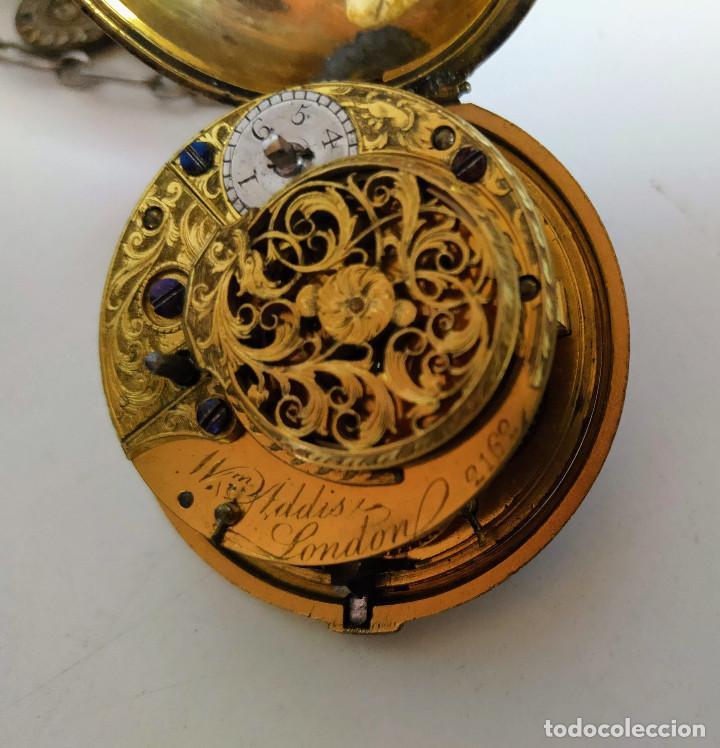 Relojes de bolsillo: Reloj catalino Inglés siglo XVIII - Foto 3 - 194338606