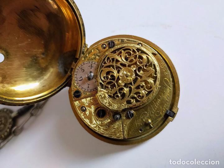 Relojes de bolsillo: Reloj catalino Inglés siglo XVIII - Foto 4 - 194338606