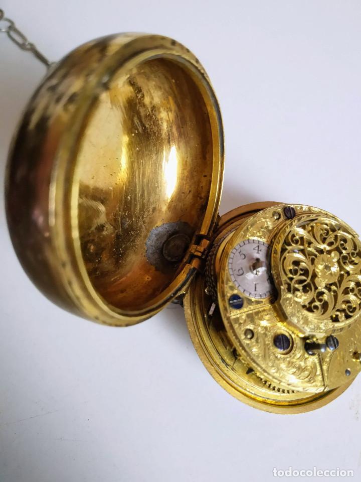 Relojes de bolsillo: Reloj catalino Inglés siglo XVIII - Foto 5 - 194338606